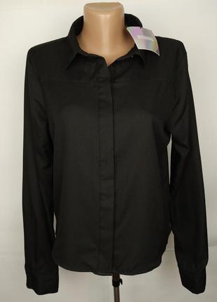 Блуза рубашка новая стильная с открытой спинкой uk 12/40/m