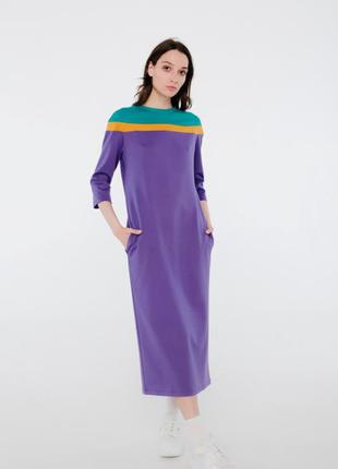 Оригинальное платье миди season нежного фиолетового цвета