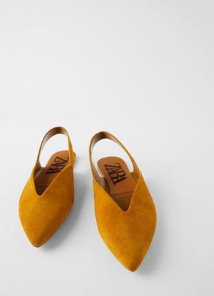 Замшевые туфли без задников zara
