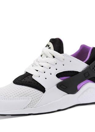Текстильные кроссовки. белые с сиреневым. 24 см.