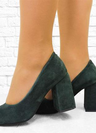 """Женские туфли """"nine"""" зеленые"""