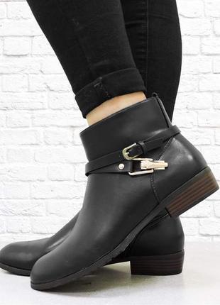 Демисезонные женские ботинки. черные.