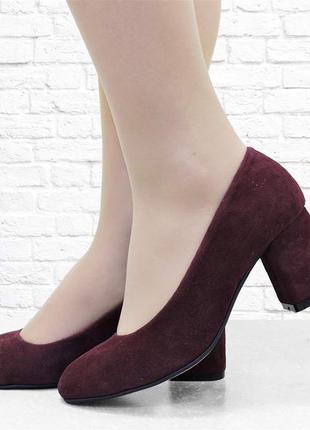 Женские туфли six бордовые