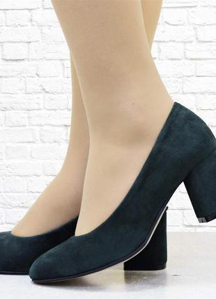 Женские туфли six зеленые