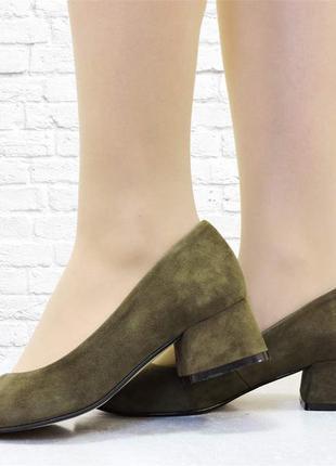 Женские туфли 4ur оливковые