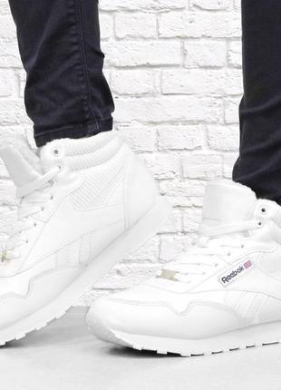 Зимние женские кроссовки. белые.