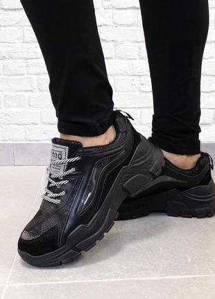 Стильные женские кроссовки aero. черные.