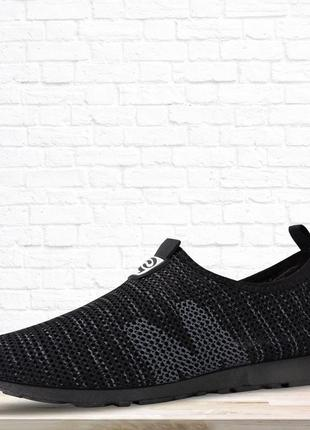 Мужские текстильные кроссовки thin. черные.
