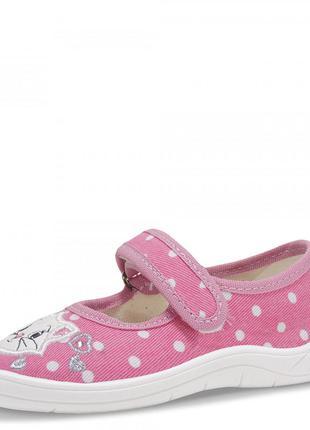 Текстильные тапочки для девочки kitty. розовые.