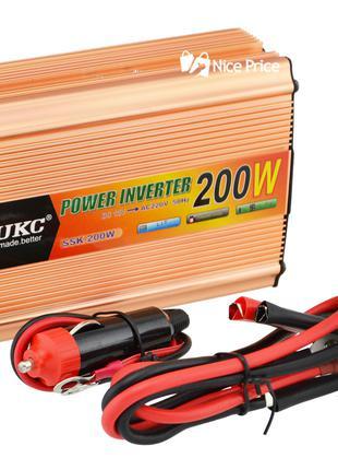 Преобразователь напряжения (инвертор) 12-220V 200W + USB Gold ...