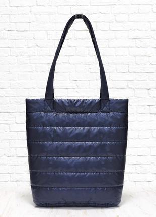 Стеганная сумка medium синяя