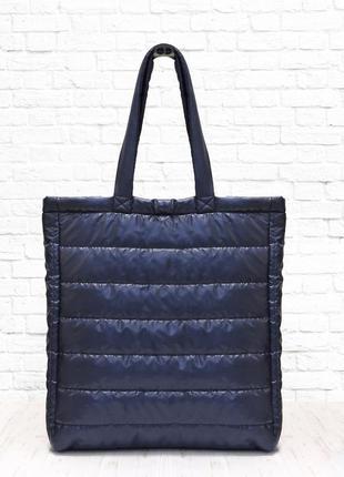 Стеганная сумка range синяя