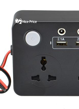 Преобразователь UKC авто инвертор 12V-220V 200W с экраном (3 U...