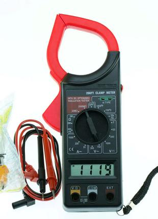 Токовые клещи (мультиметр, тестер) Digital Tech DT-266FT (1011...