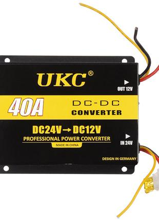 Инвертор (преобразователь напряжения) UKC DC/DC 24v-12v 40A (5...