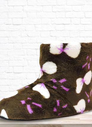 Детские тапочки - сапожки boots. коричневые.