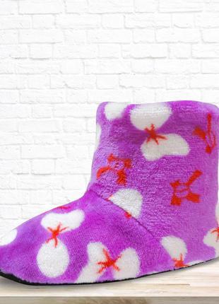 Детские тапочки - сапожки boots. фиолетовые.