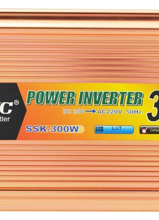 Преобразователь напряжения(инвертор) 24-220V 300W + USB (7062)...