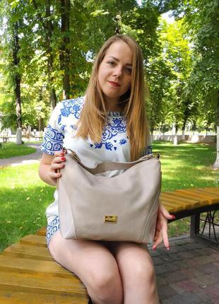 Женская сумка bag бежевая