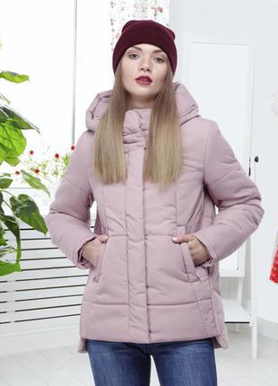 Зимняя куртка ashley. темная пудра