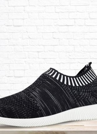 Детские текстильные кроссовки rubber. черные. 31 размер.