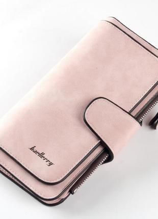 Женский замшевый кошелек baellerry forever светло-розовый