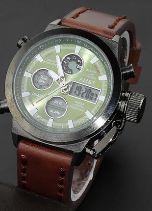 Армейские наручные часы amst green