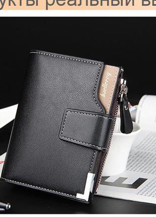 Мужской кошелек baellerry business mini черный