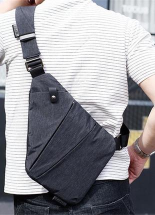 Мужская сумка через плече мессенджер cross body (кросс боди) с...