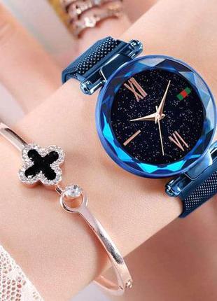 Женские наручные часы starry sky watch blue