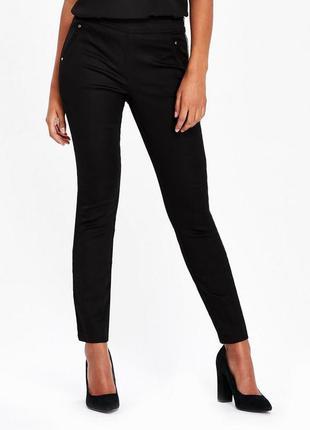 Узкие коттоновые стрейчевые брюки wallis размер 14