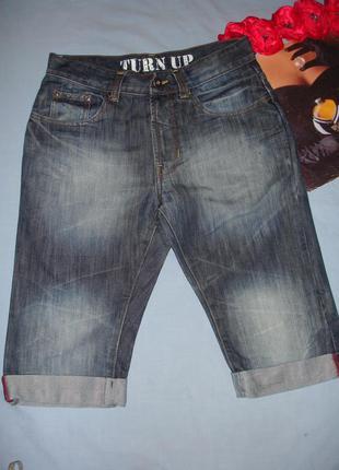 Шорты бриджи джинсовые мужские размер 46 w 30 denim летние сре...