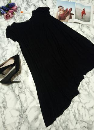 Базовое платье с ассиметричном низом