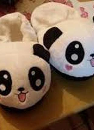 Тапочки панда с задником