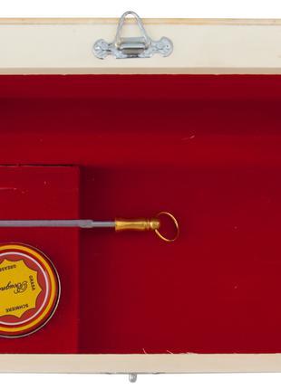 Деревянная подарочная коробка с мусатом и смазкой Laguiole Bougna