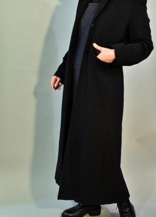 4133\330 шерстяное пальто черного цвета smith collection xl