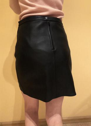 Кожаная юбка, шкіряна натуральна  спідниця