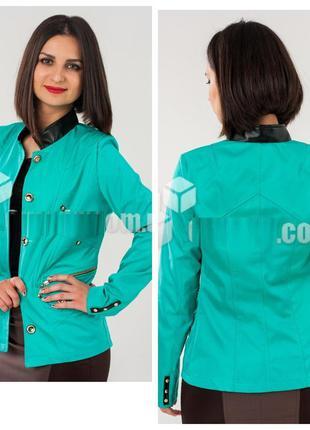 Пиджак ветровка женский из качественной плащевки, без подкладк...