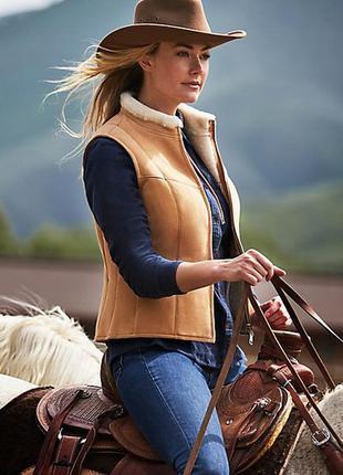 Шикарная тёплая жилетка в стиле кантри, косуха меховая, стильная