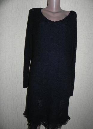 Черное платье . миди. 54р.