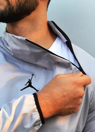 Анорак (ветровка) Jordan серый