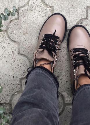 Ботинки зимние кожаные боты тимберленды