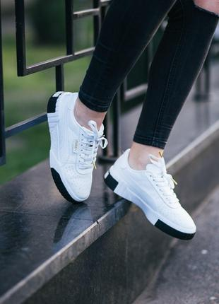 Puma Cali White Black