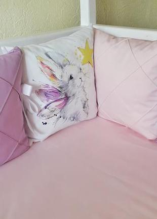 """Набор бортиков в детскую кроватку """"кролик с волшебной палочкой"""""""