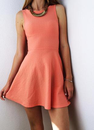 Невероятное фактурное бирюзовое платье-мини h&m s_m