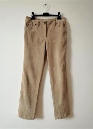 Прямые брюки микровельвет