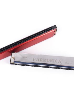 Гармонь губная гармошка harmonica на 24 отверстия Подробнее: http