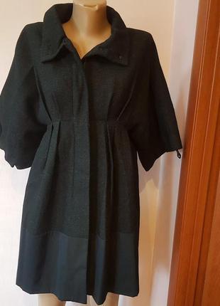 Стильное женское шерстяное пальто на подкладке mia mia, размер...