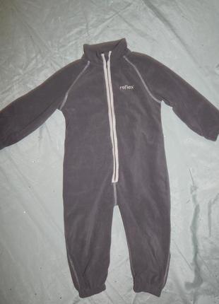 Человечек  пижама флисовый на мальчика 3 года