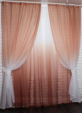 Комплект легких штор и тюля